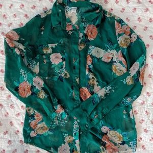 Old Navy sheer button down top